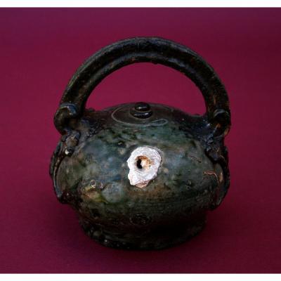 Antique Betel Lime Pot Vietnam Thai Kymer