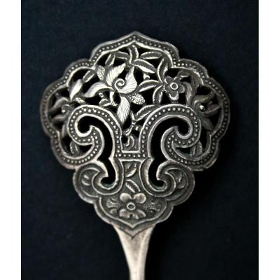 Antique Chinese Silver Hairpin Straits Chinese ? Peranakan ? Chine Argent Massif