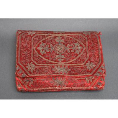 Ancien Couverture De Livre. Broderie Russe Europe Orientale Ottoman?
