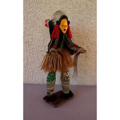 Antique African Tribal Dancer Dan Mask