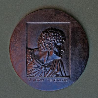 Ancienne Plaque De Fer Medaillon Berliner Eisen St Judas Thaddeaus