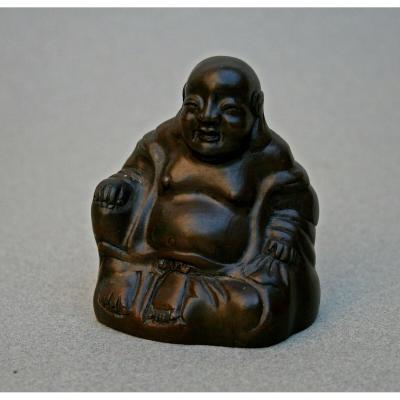 Antique Chinese Bronze Pu-tai Laughing Buddha Budai Buddhist