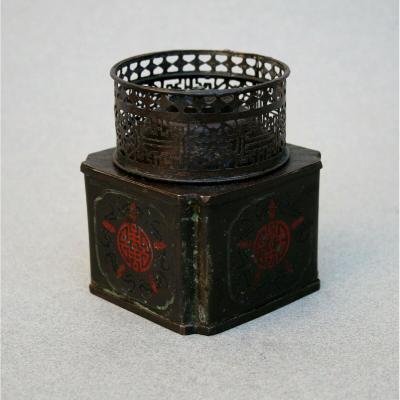 Ancienne Lampe à Opium Chinois Marque Créateur/signé