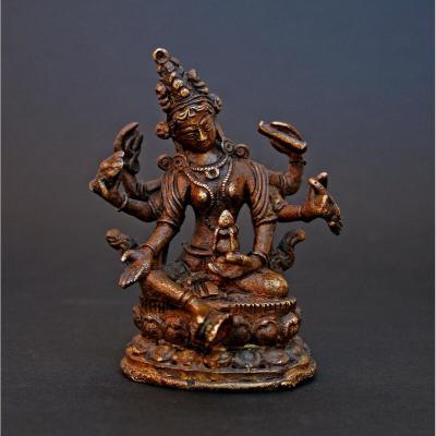 Antique Tibetan Bronze Deity Buddha Buddhist Tibet Nepal