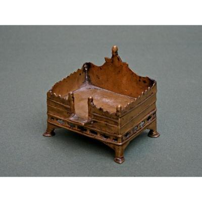 Antique Indian Bronze Shrine Hindu Votive Inscribed