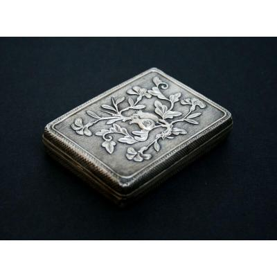 Antique Chinese Silver Visiting Card Business Card Case