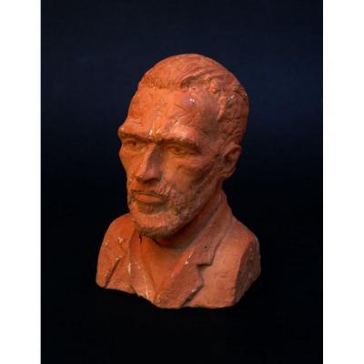 Terre Cuite Buste Portrait de Van Gogh