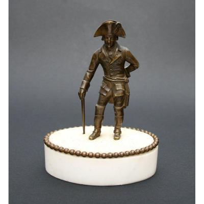 Ancien Bronze Friedrich II Frédéric II Roi De Prusse Frédéric le Grand