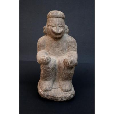 Ancien Sculpture En Pierre de Papouasie nouvelle guinée Océanie