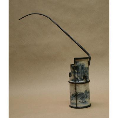 Lampe à Opium Ancienne Bleu De Hue Vietnam
