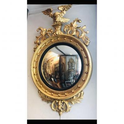 Miroir Sorciere Bois Doré XIX Eme