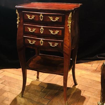 Petite Table De Salon D' Époque Louis   XV De Macret