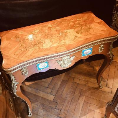 Louis XV Style Game Table, Napoleon Lll