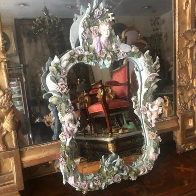Miroir En Porcelaine Allemande