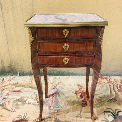 Petite Table Chiffonnière d'époque Louis XV