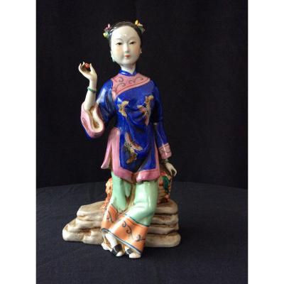"""Chinese """"fruit Market"""" Porcelain"""