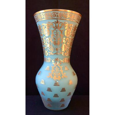 Vase verre multi-couches Turque Maison Pasabahce Turquoise