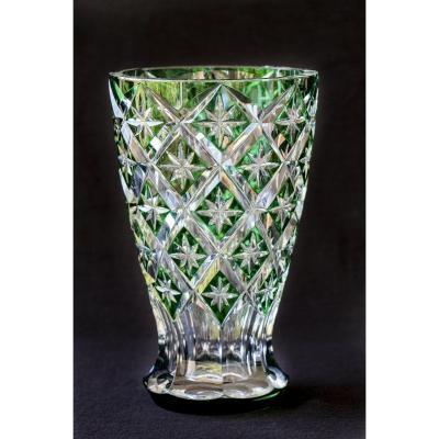 Grand Vase Saint Louis Cristal Vert