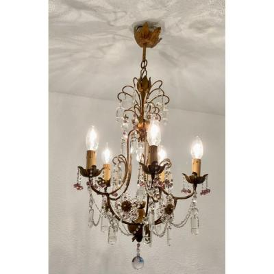 Two-tone Crystal Chandelier