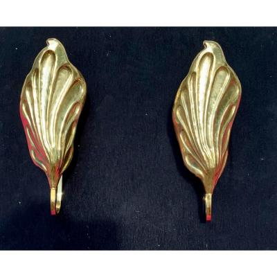 Paire D'apliques «feuilles» Tommaso Barbi