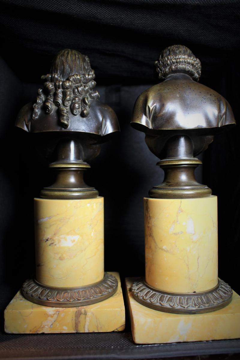 Grand Bustes De Voltaire Et Rousseau-photo-2