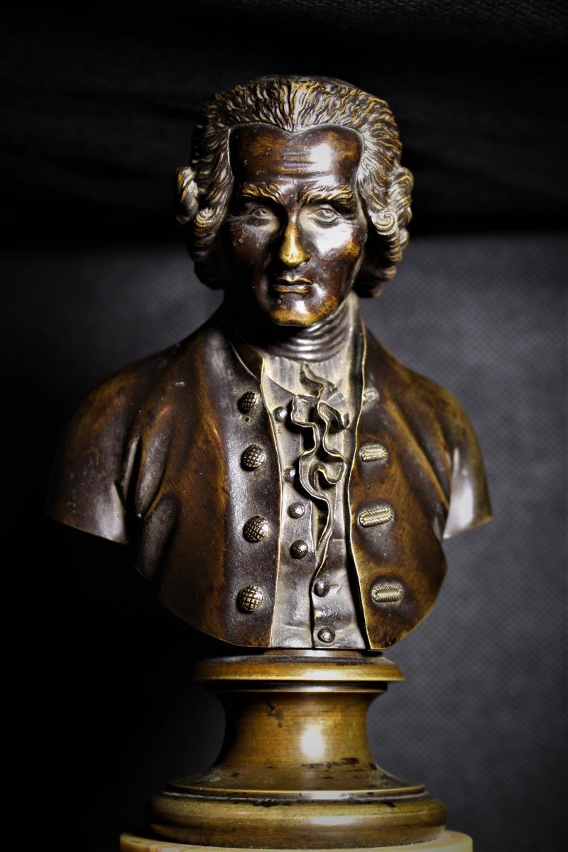 Grand Bustes De Voltaire Et Rousseau-photo-3