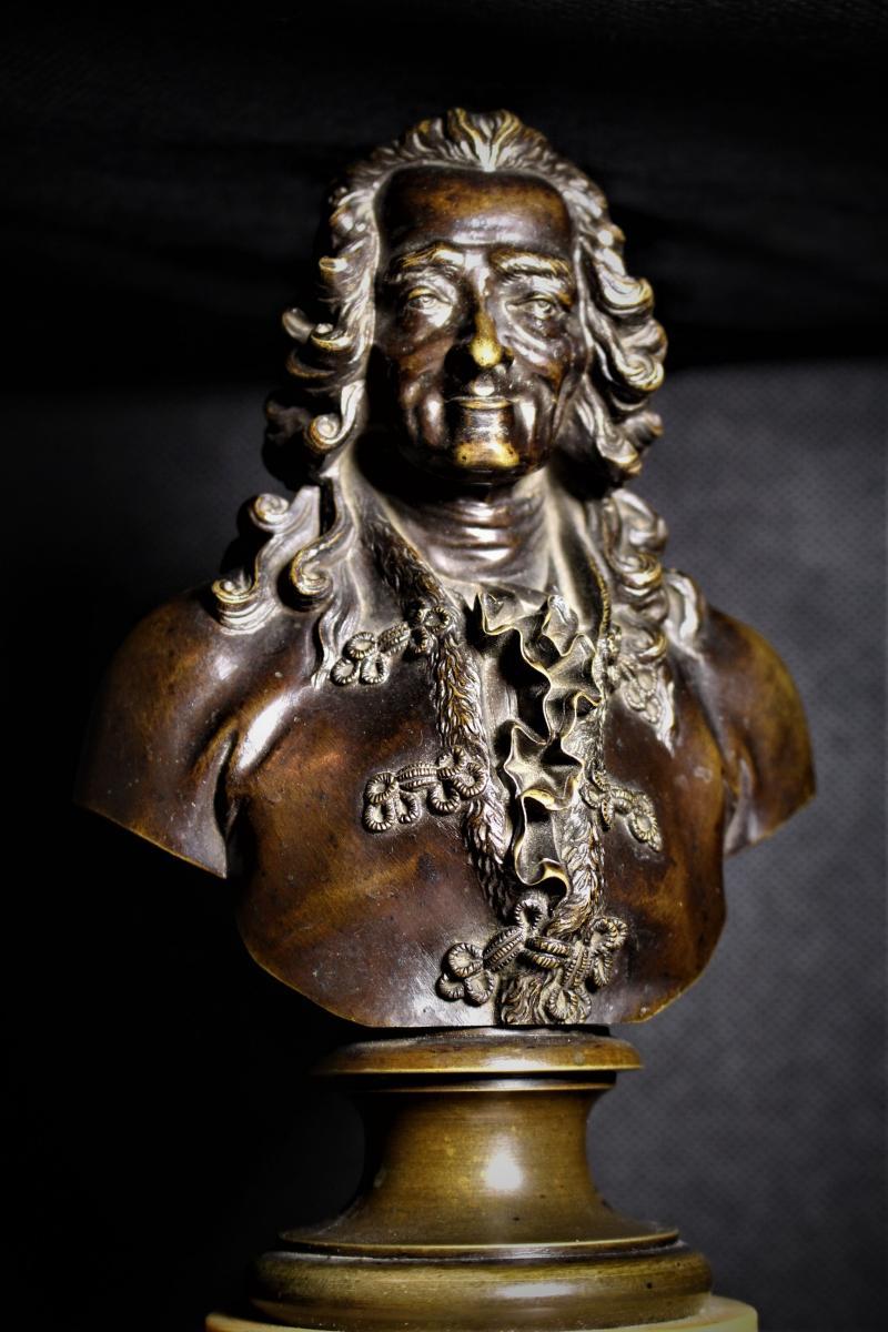 Grand Bustes De Voltaire Et Rousseau-photo-4