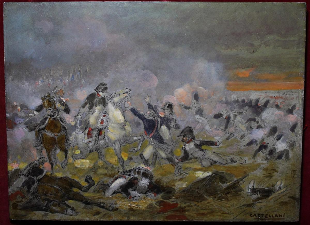 Scène De Bataille Napoléonienne De Castellani