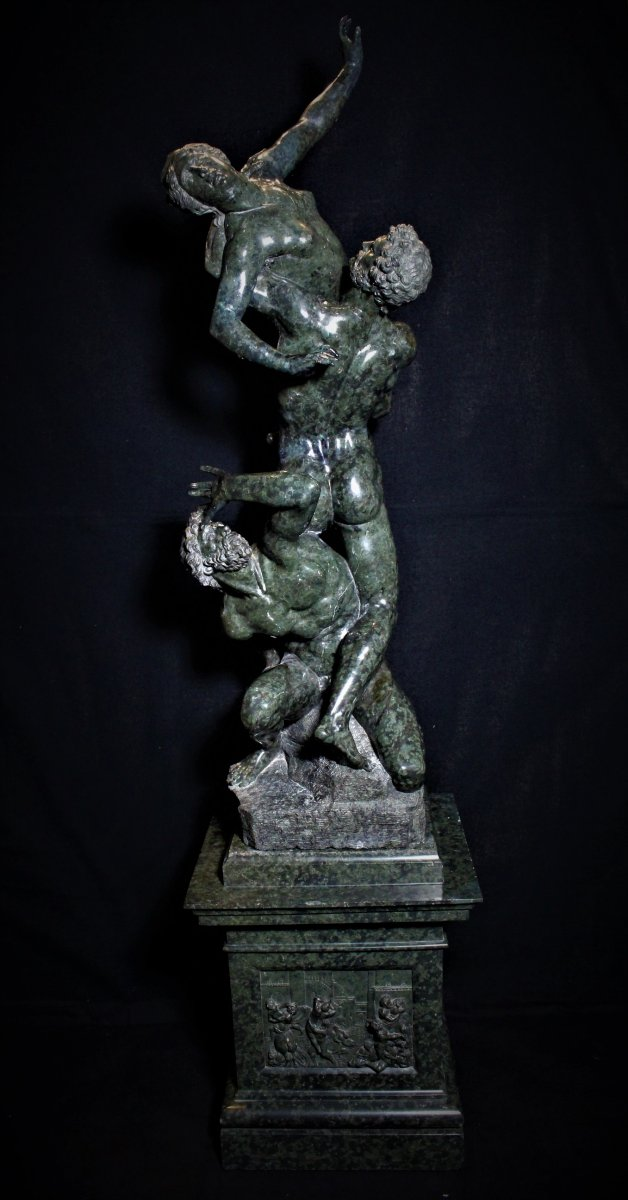 Group In Green Marble Abduction Of Sabines