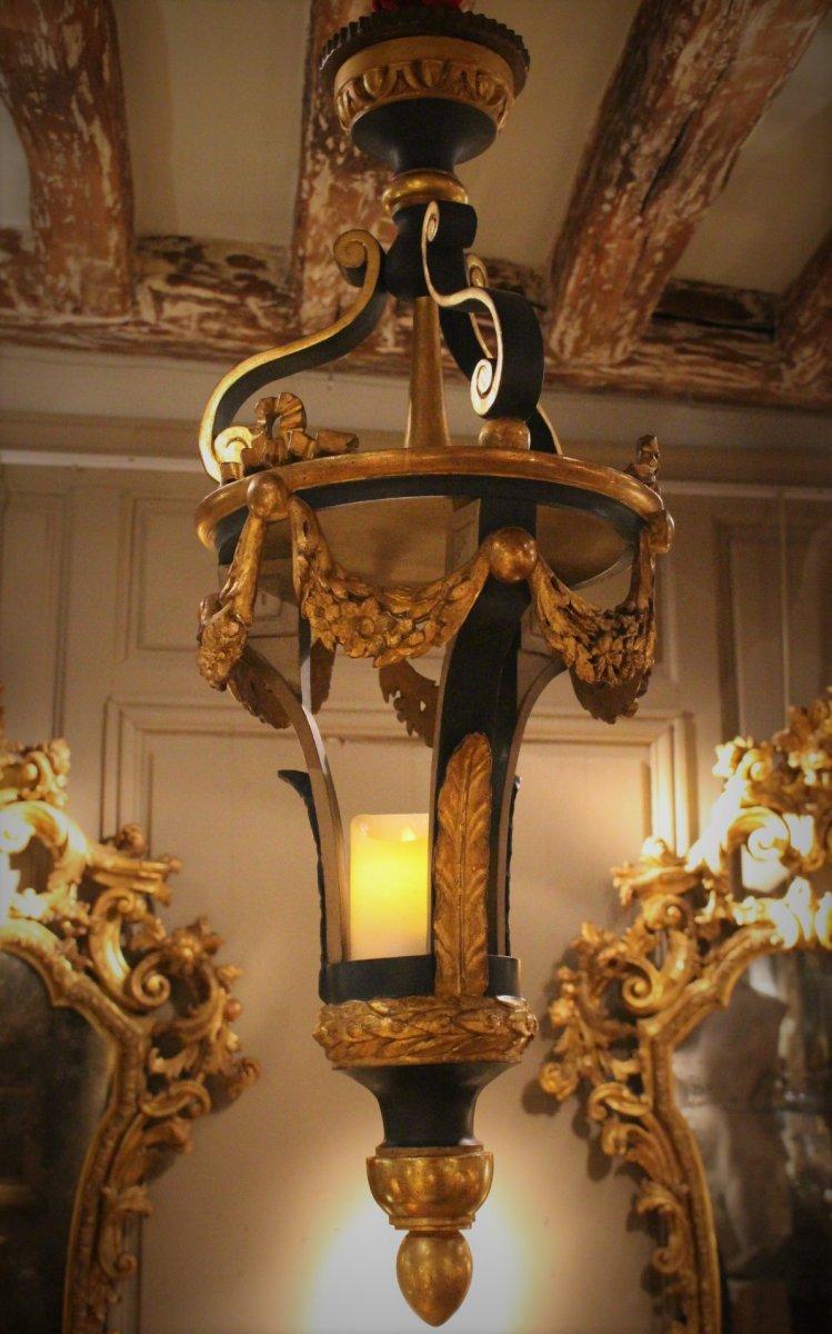 Lanterne Vénitienne Bois Doré XVIIIème