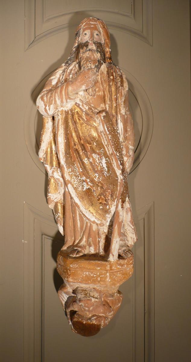 Sculpture Of Three Apostles Terracotta-photo-3