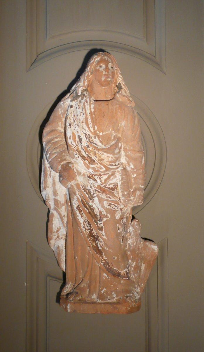 Sculpture Of Three Apostles Terracotta-photo-2