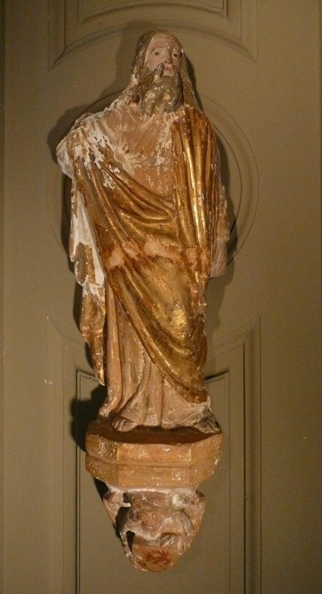 Sculpture Of Three Apostles Terracotta