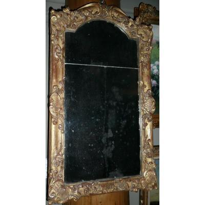 Miroir En Bois Sculpté Doré Louis XIV