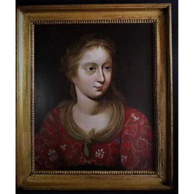 Oil On Panel 18th Century Quality Lady