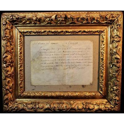 Manuscrit Sur Parchemin XVIIIème