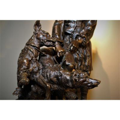 Groupe En Bronze Pierre-jules Mene