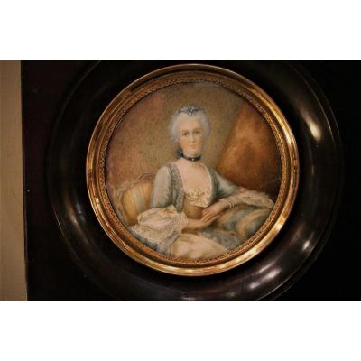 Miniature De Femme Louis XVI
