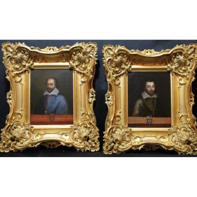 Paire De Portraits d'évêques Aux Armoiries