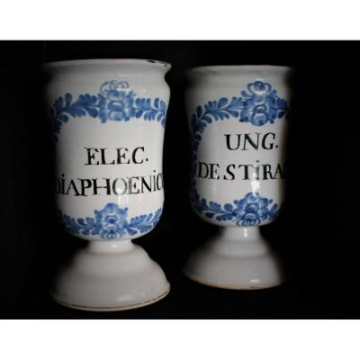 Pair Of Pharmacy Pots