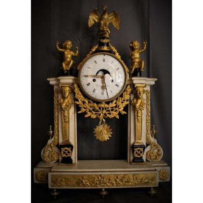 Portico Clock Movement Moon Phase And Louis XVI Calendar