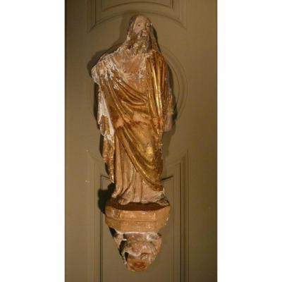 Sculpture des 3 apôtres En Terre Cuite