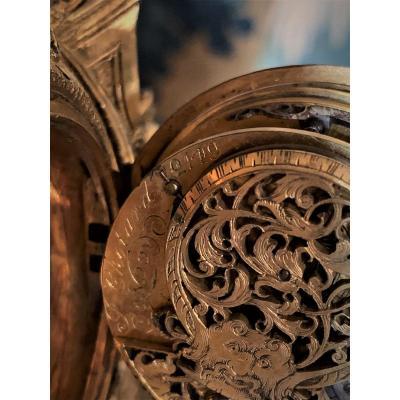 Louis XIV Gilt Bronze Clock