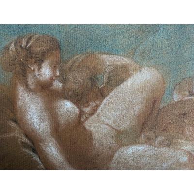 """Dessin XVIIIème """"Vénus et Amours"""""""