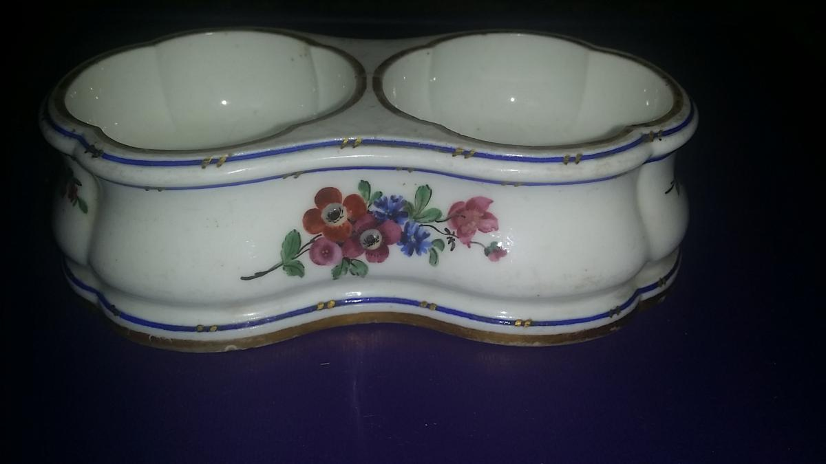 Saleron Double Porcelain SÈvres Eighteenth Fleurettes 1766
