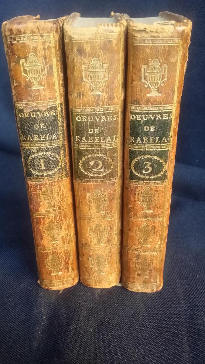 RABELAIS - OEUVRES 1789 COMPLET GRAVURES XVIIIE