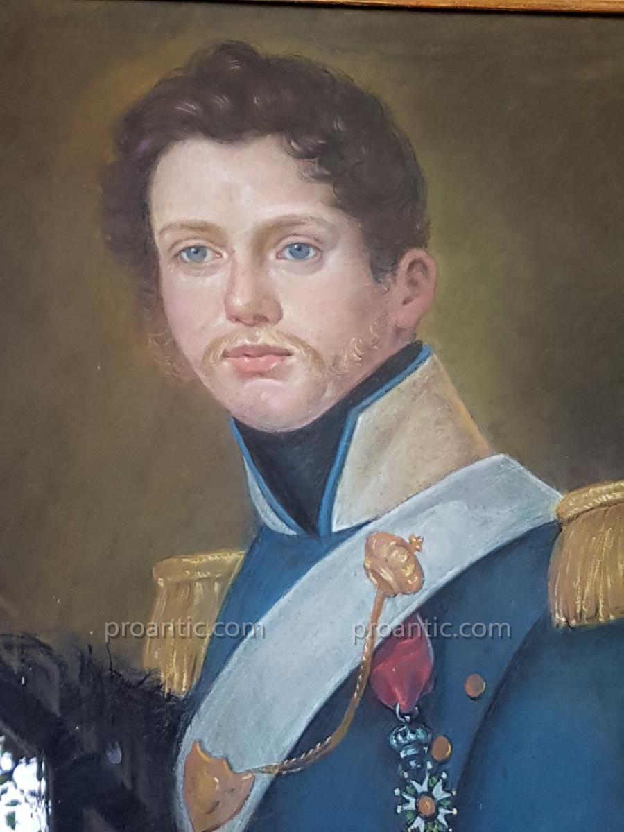 Pastel Portrait Of The Dragon Louis XVIII XIX Early Man M