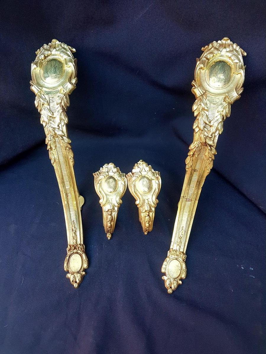 Door Embraces T Tringle Bronze Gold Napoleon III Louis XVI