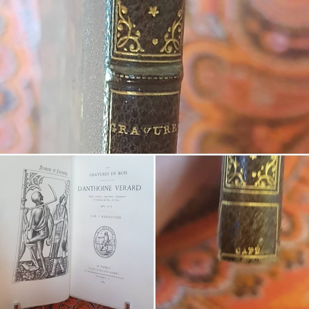 Charles CapÉ Binding For Jules To Renew Anthony Verard Engravings