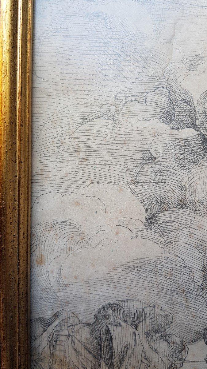 PIETRO TESTA LE SACRIFICE D'IPHIGÉNIE VERS 1640 EAU-FORTE XVIIe GRAVURE RARE-photo-3